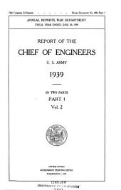 Report of the Chief of Engineers, U.S. Army: Part 1, Volume 2