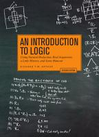 An Introduction to Logic   Second Edition PDF
