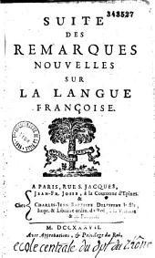 Remarques nouvelles sur la langue françoise