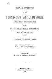 Transactions: Volume 19