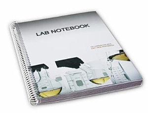Lab Notebook Spiral Bound 100 Carbonless Pages  Copy Page Perforated