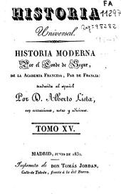 Historia moderna: Volumen 15