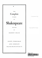 the Complete works of Shakespeare  PDF