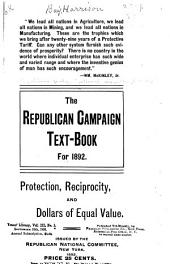 The Republican Campaign Text-book for 1892 ...