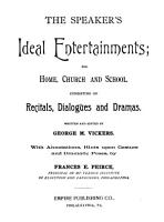 The Speaker s Ideal Entertainments PDF