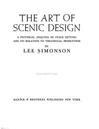 The Art of Scenic Design