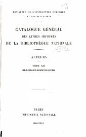 Catalogue général des livres imprimés de la Bibliothèque nationale: Auteurs..., Volume14