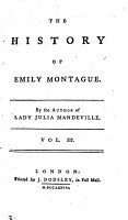 The history of Emily Montague  by the author of Lady Julia Mandeville PDF