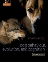 Dog Behaviour  Evolution  and Cognition PDF