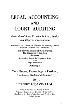 Legal Accounting and Court Auditing PDF