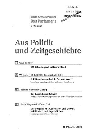 Aus Politik und Zeitgeschichte PDF