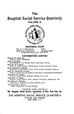Hospital Social Service Quarterly PDF