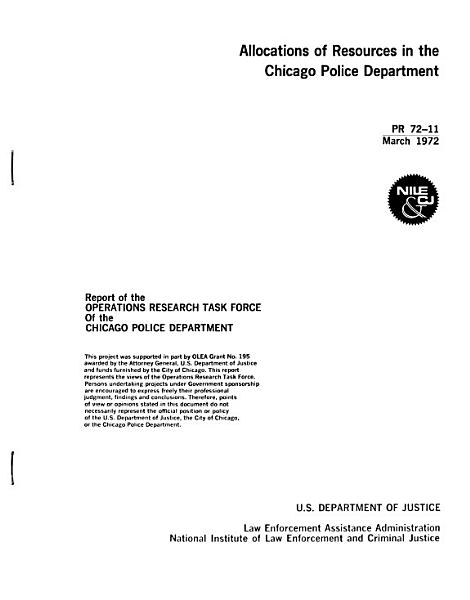 Project Reports of the National Institute of Law Enforcement and Criminal Justice PDF