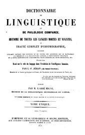 Dictionnaire de Linguistique et de Philologie comparee. Histoire de toutes les Langues Mortes et Vivantes, ou Traite complet d'Idiomographie (etc.): T.S.34 : Dictionnaire de Linguistique
