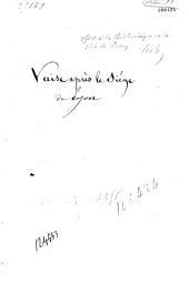 Vaise après le siège de Lyon: discours de réception à l'Académie des sciences, belles-lettres et arts de Lyon, prononcé dans la séance publique du 21 décembre 1886