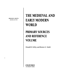 The Medieval and Early Modern World PDF