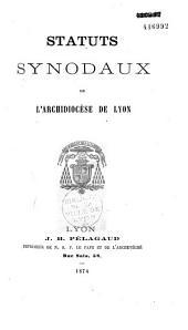 Statuts synodaux de l'archidiocèse de Lyon
