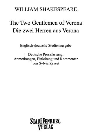 The two gentlemen of Verona PDF