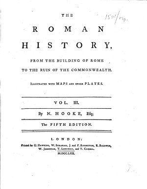 The Roman History     Illustrated with Maps and Other Plates     The Fifth Edition