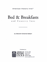 Bed   Breakfasts and Country Inns PDF