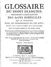 Glossaire Du Droit Francois