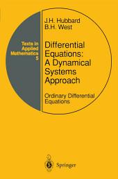 Differential Equations: A Dynamical Systems Approach: Ordinary Differential Equations, Edition 2