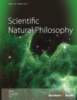 Scientific Natural Philosophy PDF