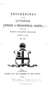 Proceedings of the Liverpool Literary & Philosophical Society: Issue 9