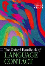 The Oxford Handbook of Language Contact PDF