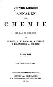 Justus Liebigs Annalen der Chemie: Bände 257-258