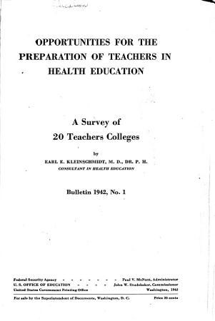 Opportunities for the Preparation of Teachers in Health Education PDF