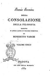 Della consolazione della filosofia Boezio Severino
