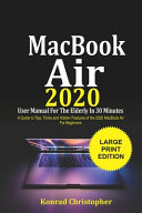 MacBook Air 2020 User Manual For the Elderly In 30 Minutes
