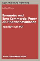 Euronotes und Euro Commercial Paper als Finanzinnovationen PDF