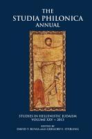 Studia Philonica Annual XXV  2013 PDF