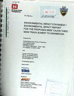 Proposed BNSF Cajon Third Main Track, Summit to Keenbrook
