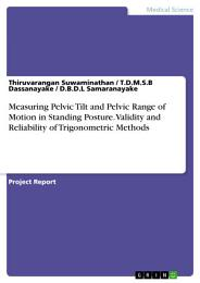 Measuring Pelvic Tilt and Pelvic Range of Motion in Standing Posture. Validity and Reliability of Trigonometric Methods