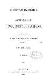 Mittheilungen des Instituts für Oesterreichische Geschichtsforschung: Band 2