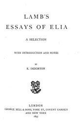 Essays of Elia: A Selection