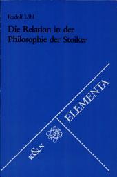 Die Relation in der Philosophie der Stoiker