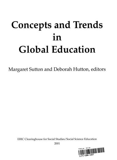Concepts and Trends in Global Education PDF