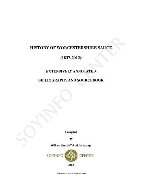 Download History of Worcestershire Sauce  1837 2012  Book