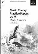 Music Theory Practice Papers 2019 Model Answers  ABRSM Grade 1