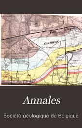 Annales de la Société géologique de Belgique: Volume35
