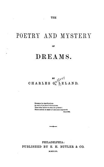 The Poetry and Mystery of Dreams PDF