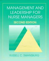 Management and Leadership for Nurse Managers PDF