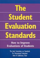 The Student Evaluation Standards PDF