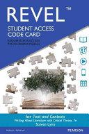 Texts and Contexts Revel Access Card PDF
