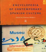 Encyclopedia of Contemporary Spanish Culture PDF