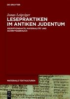 Lesepraktiken im antiken Judentum PDF